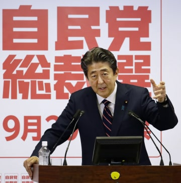 Abe re-elected as head of LDP