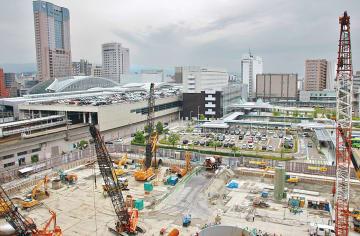 ホテル建設ラッシュが継続する金沢市内(写真は金沢駅西口)