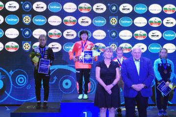 カデット、シニアに続いてジュニアの世界チャンピオンを奪取した須崎優衣(早大)