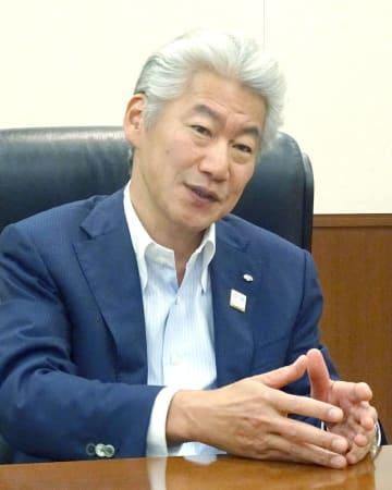 インタビューに応じる野村ホールディングスの永井浩二グループCEO