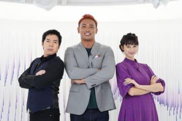 21日放送の「アナザースカイ」の一場面。ゲスト出演するオカダ・カズチカさん(中央)=日本テレビ提供