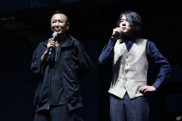 総合監督の名越稔洋(左)とKICK THE CAN CREWのMCUさん(右)