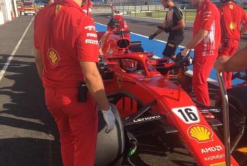 【動画】フェラーリとメルセデスが2019年F1タイヤ開発テストに参加。ベッテルとルクレールのペアが走行
