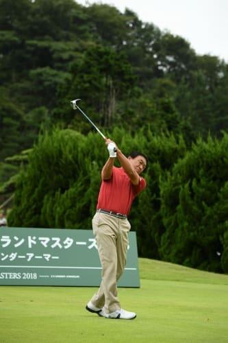 7アンダーで飛び出した羽川豊(写真・大会事務局提供)