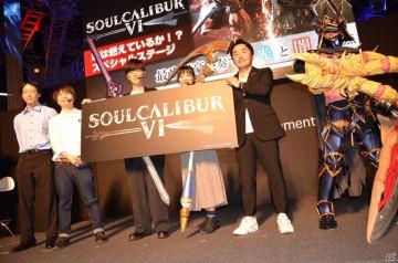 左からデコポン氏、おおさか氏、櫻井孝宏さん、赤﨑千夏さん、大久保元博氏、ナイトメアくん。