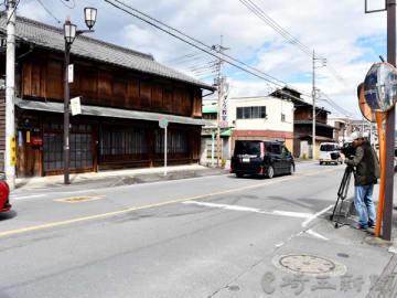 女性2人が死傷した事故現場=22日午前10時55分ごろ、埼玉県秩父市上町2丁目
