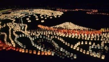 灯明の芸術、室見川河畔を彩る [福岡県]