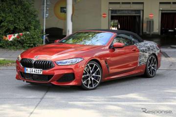 BMW 8シリーズカブリオレ(M850i)スクープ写真