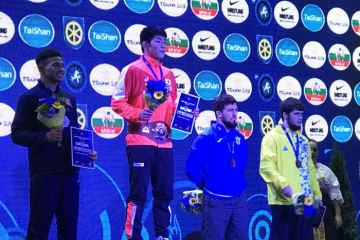 <レスリング>【写真集】2018年世界ジュニア選手権・第6日/表彰式
