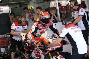 中上、MotoGPアラゴンGPはQ2に進出し11番手からスタート。「最終ラップは思いきり攻めた」