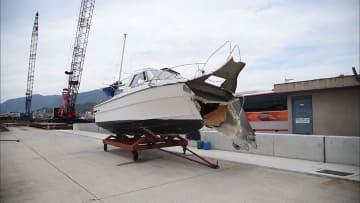 プレジャーボート岸壁に激突 家族6人が重軽傷