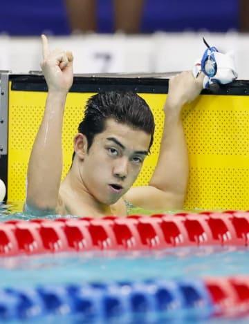 男子200メートル自由形(知的障害) 1分57秒11の日本記録で2位の東海林大=横浜国際プール