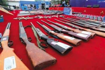 中国で銃の違法所持の取り締まり運動=14万丁以上を押収