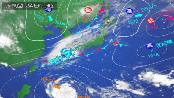 全国的に天気は下り坂 台風24号にも注意
