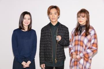 ▲左よりM・A・Oさん、小野賢章さん、茜屋日海夏さん