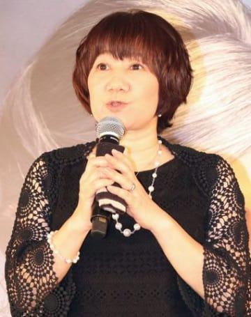映画「ルイスと不思議の時計」の日本語吹き替え版完成会見に登場した矢島晶子さん