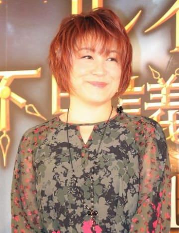 映画「ルイスと不思議の時計」の日本語吹き替え版完成会見に登場した松本梨香さん