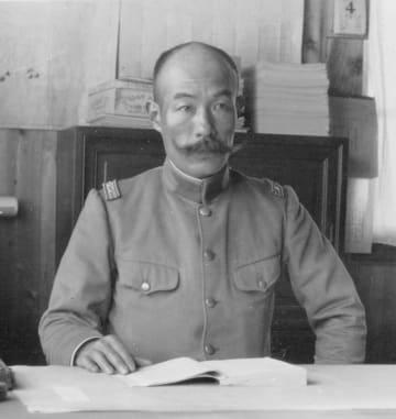 板東俘虜収容所長時代の松江豊寿(鳴門市ドイツ館提供)