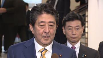 北朝鮮問題・貿易問題協議 首相、米大統領と夕食会