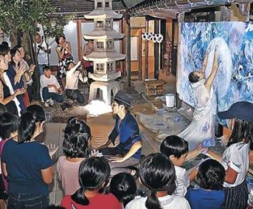 体いっぱい絵画表現 高岡・山町ヴァレーで神田さん