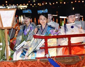 ミスうねめら友好の花 奈良采女祭に郡山市親善使節団が参加