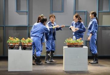 殺処分ゼロを目指す三本木農業高生の活動を演劇化した舞台「いのちの花」