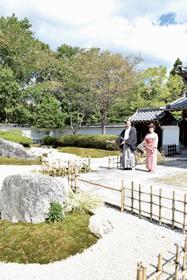 登別伊達時代村の片倉屋敷に枯山水蓬莱庭がオープン