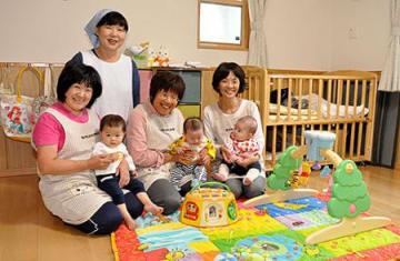「保育ママ」始めました 長井市認定第1号「ひよっこ」、自宅使い開所