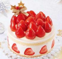 「あまおう苺たっぷりの贅沢クリスマスショートケーキ」(画像: 不二家の発表資料より)