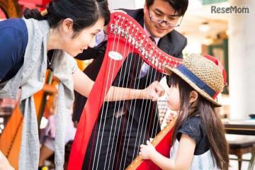 本物の楽器を体験できるミュージック・マルシェ(過去開催のようす)