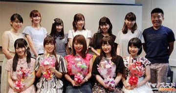 ▲前列左から、小倉唯さん、日笠陽子さん、井口裕香さん、阿澄佳奈さん、東山奈央さん