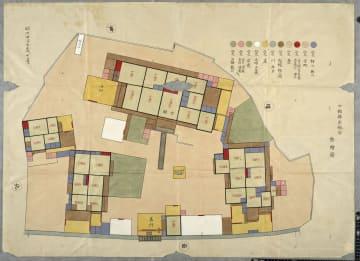 発見された「白木陣屋」の絵図(大阪大谷大所蔵)
