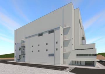村田製作所が島根県出雲市で建設する新棟の完成イメージ