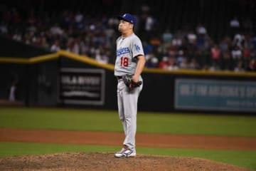9回にサヨナラ本塁打を浴びたドジャース・前田健太【写真:Getty Images】