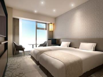 来年5月に開業する「ホテルヴィスキオ京都byグランヴィア」の客室イメージ図