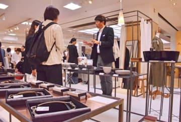 湖国発の個性豊かな商品が並ぶ「それぞれのTEIBAN」の会場(東京都中央区銀座・松屋銀座)