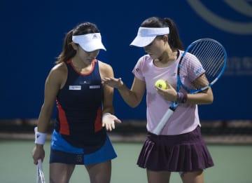 女子テニス武漢オープン、加藤·二宮組が敗退