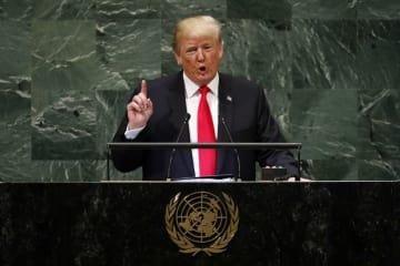 トランプ米大統領、国連総会の演説でグローバリズム拒絶を表明
