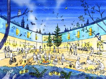 星野リゾートが来年2月に開業する「BEB 軽井沢」のイメージ(同社提供)