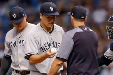 5回途中4失点で降板したヤンキース・田中将大【写真:Getty Images】