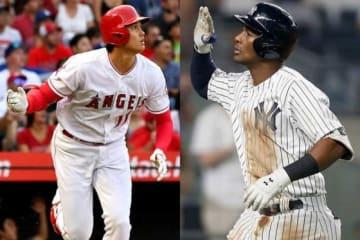 エンゼルス・大谷翔平(左)、ヤンキースのミゲル・アンドゥハー【写真:Getty Images】