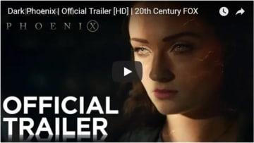 新作はジーン・グレイにフォーカスした作品!(YouTube『X-MEN: ダーク・フェニックス(原題) /  X-Men: Dark Phoenix』海外版予告編のスクリーンショット)