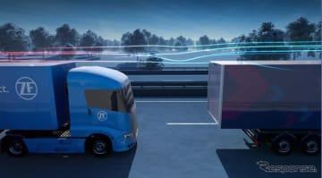 ZFの自動運転の大型トラックによる隊列走行のイメージ