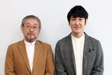 「Hulu」オリジナル連続ドラマ「うつヌケ」原作者の田中圭一さん(左)と主演を務めるお笑いコンビ「ココリコ」の田中直樹さん