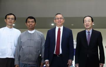 U.S., Japanese envoys visit Myanmar's industrial park