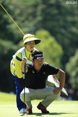 池田勇太、2週連続優勝へ向けて、好位置をキープ(撮影:鈴木祥)