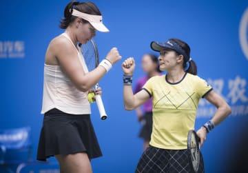 女子テニス武漢オープン、青山組が準決勝敗退