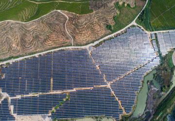 鉱山跡地に太陽光発電所 浙江省湖州市