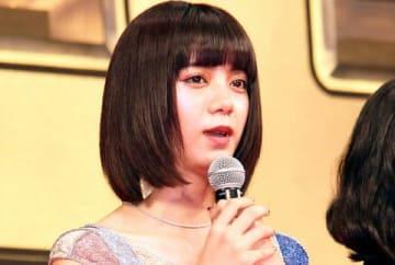 映画「億男」の完成披露試写会に登場した池田エライザさん
