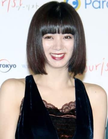 ドラマ「tourist ツーリスト」の完成披露試写会に登場した池田エライザさん